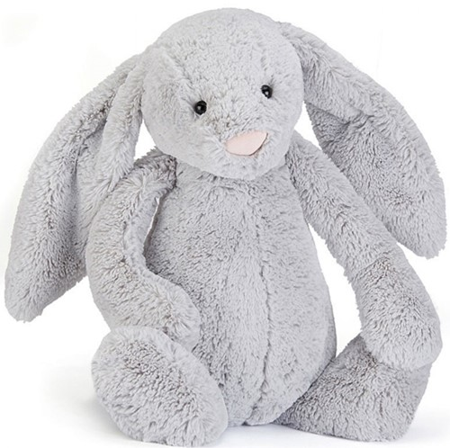Jellycat  Bashful Hase Silber Mittelgroß - 31cm
