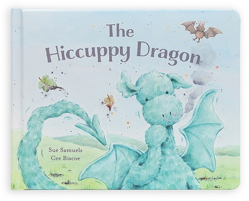 Jellycat The Hiccuppy Dragon Buch - 18cm