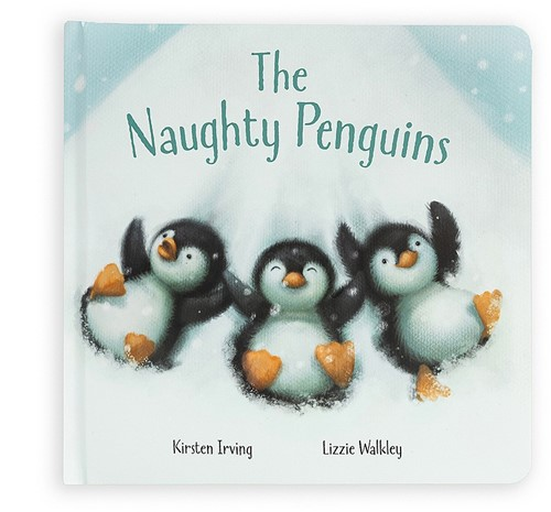 Jellycat The Naughty Penguins Buch - 21cm
