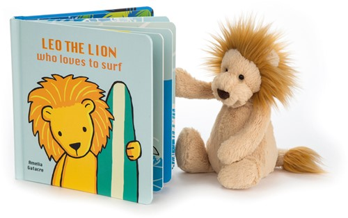 Jellycat Leo The Lion Who Loves to Surf Buch-2