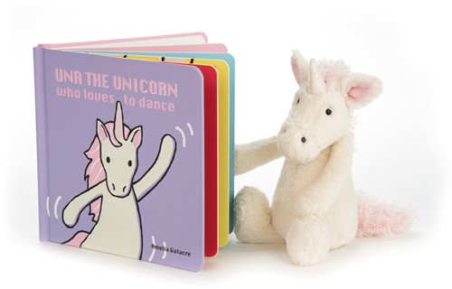 Jellycat Una The Unicorn Who Loves to Dance Buch-2